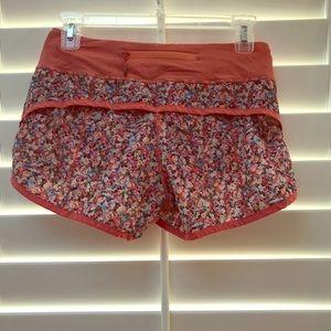 Floral lulu lemon shorts